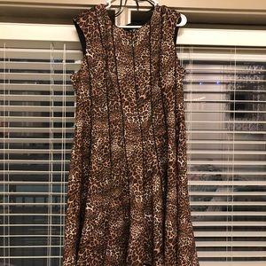 Leopard print Leslie Fay dress (form fitting)